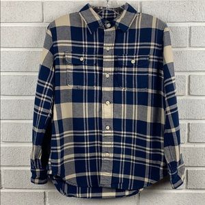 Gap boys flannel plaid size 8 button down shirt